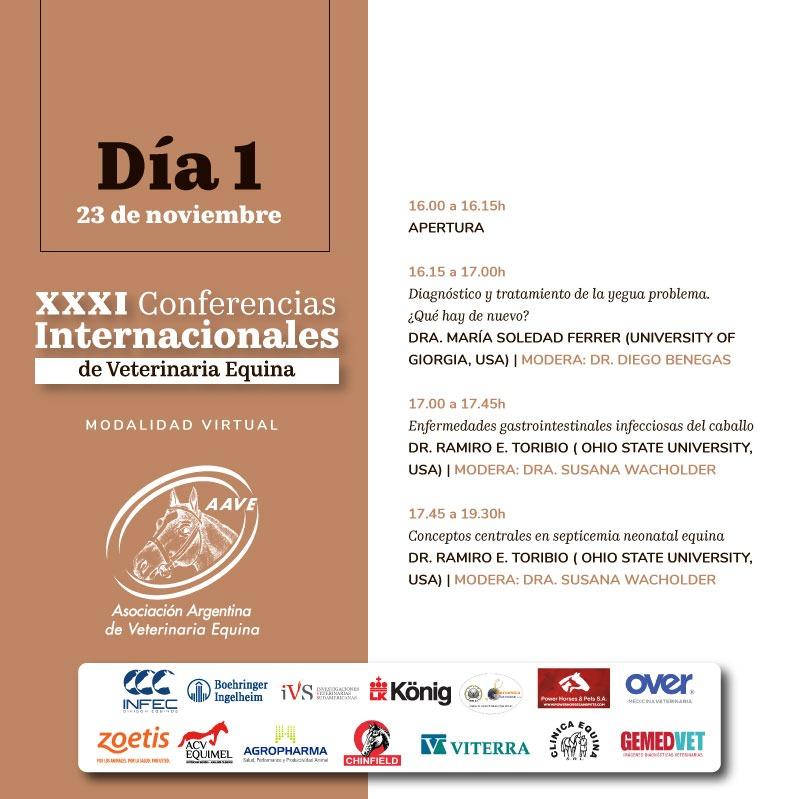 Conferencias Internacionales AAVE Día 1